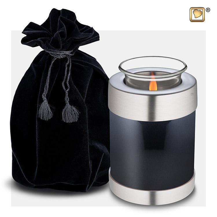 Urn met Waxinelichtje Midnight Black (0.45 liter)