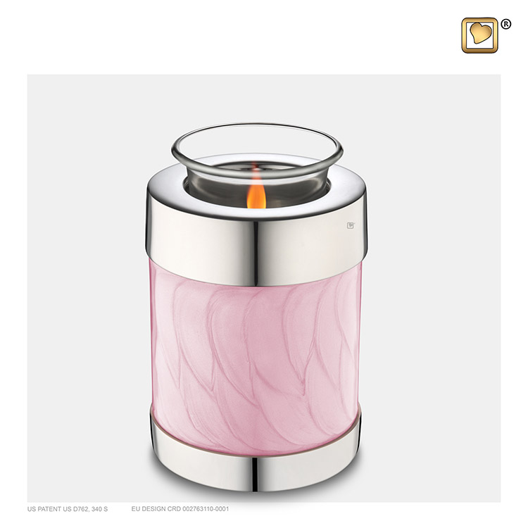 Urn met Waxinelichtje Gemarmerd Roze (0.45 liter)