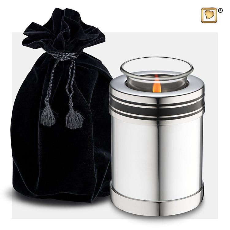 Zilveren LoveUrns Art Deco Waxinelichturn (0.45 liter)