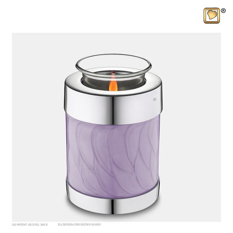 Urn met Waxinelichtje Lavendel Gemarmerd (0.45 liter)