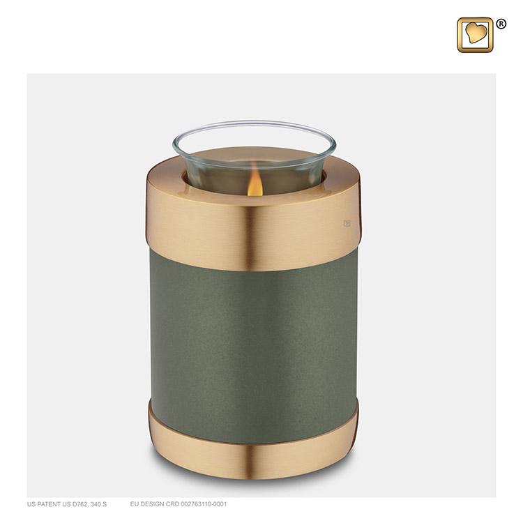 Urn met Waxinelichtje Groen (0.45 liter)