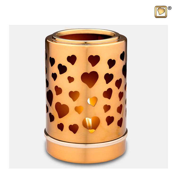 Dierenurn met Waxinelichtje Harten (0.3 liter)