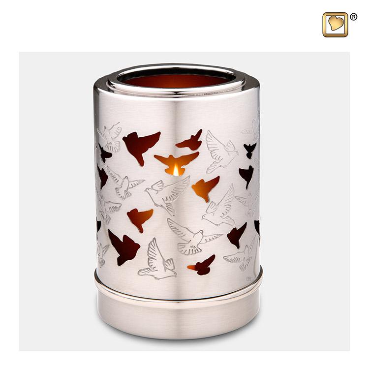 LoveUrns Urn met Waxinelichtje Duiven (0.3 liter)