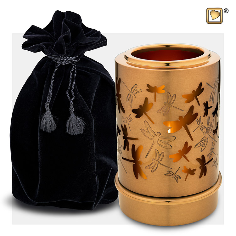 LoveUrns Urn met Waxinelichtje Libelles (0.3 liter)