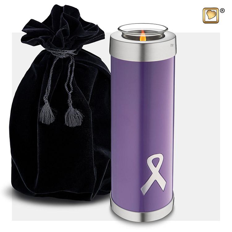 Hoge Urn met Waxinelichtje Purple Ribbon (1.1 liter)