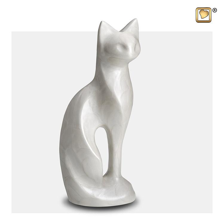 LoveUrns Kattenurn White Pearl (0.3 liter)