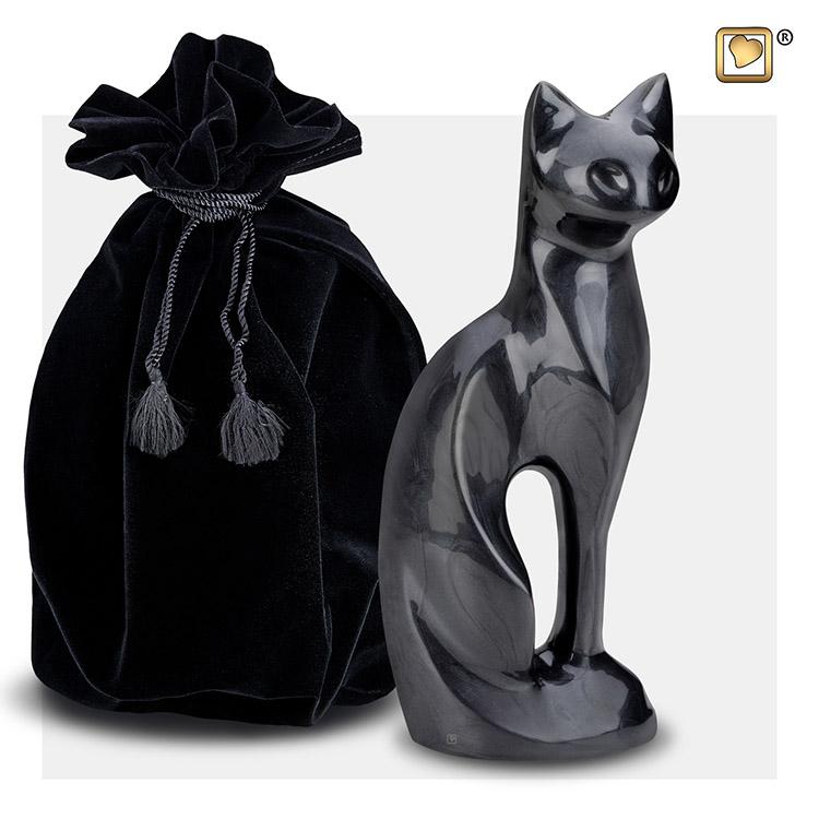 LoveUrns Kattenurn Midnight Black (0.3 liter)