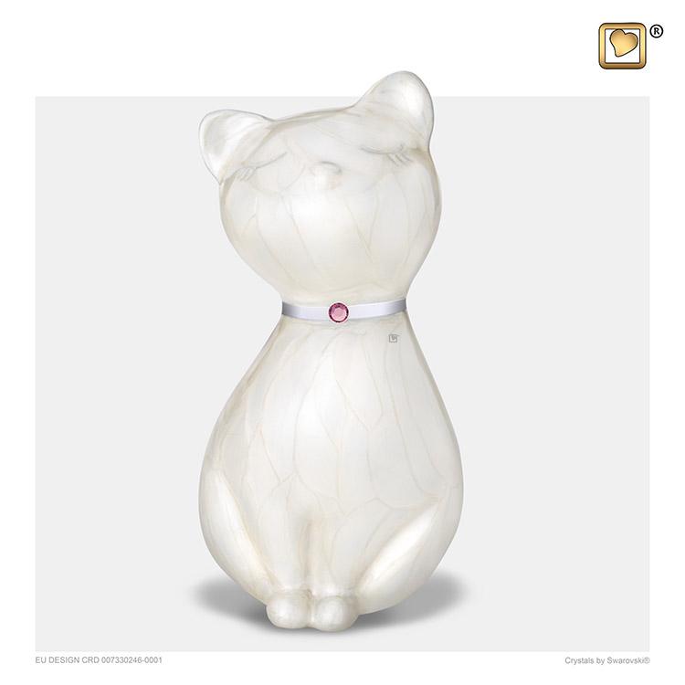 LoveUrns Kattenurn White Pearl (0.7 liter)