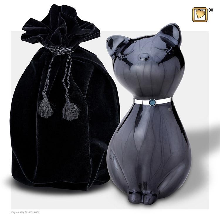 LoveUrns Kattenurn Midnight Black (0.7 liter)