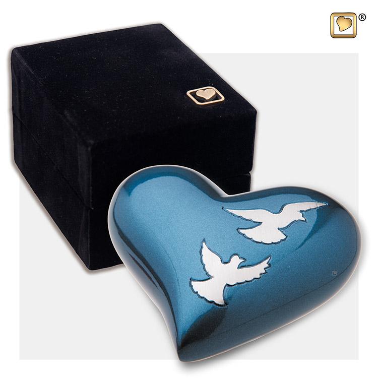 LoveUrns Design Hart Urn Nirvana Adieu Azure (0.05 liter)
