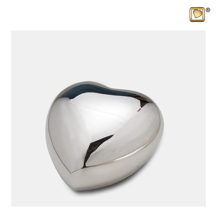 Hart Dierenurn Glimmend Zilver (0.11 liter)