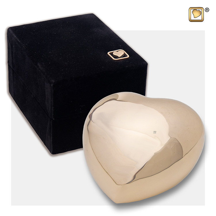 LoveUrns Hart Urn Shiny Gold (0.085 liter)