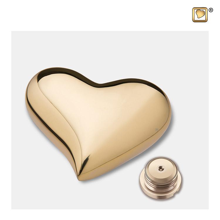 Messing Hart Dierenurn Glimmend Goud (0.11 liter)