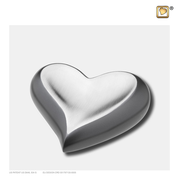 LoveUrns Design Dieren Harturn Leikleur - Matzilver (0.05 liter)
