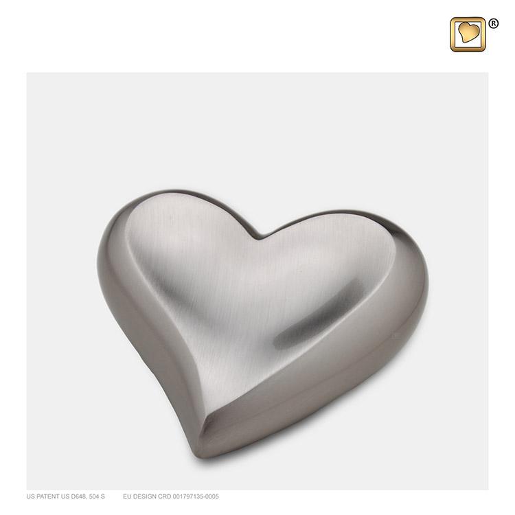 Messing Hart Dierenurn Zilver (0.11 liter)