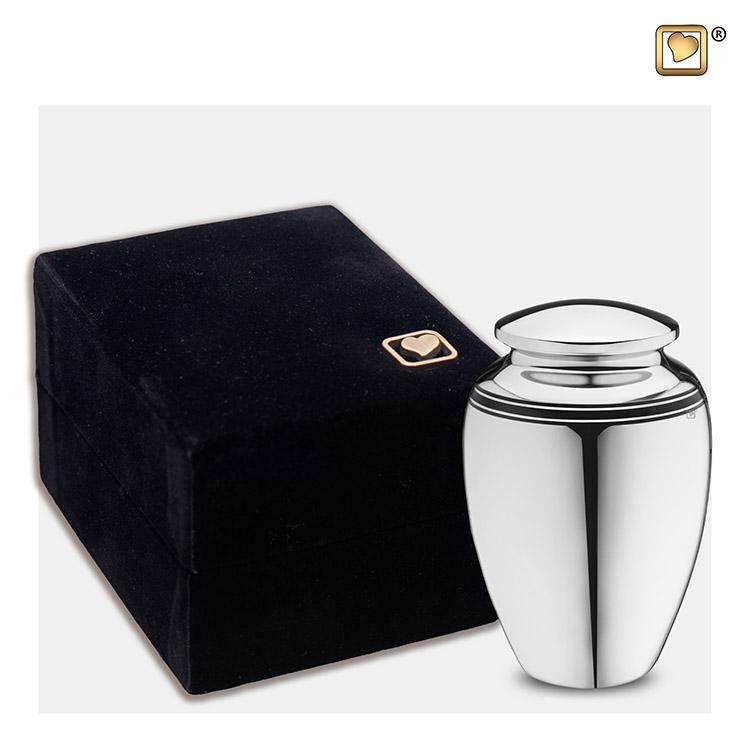 Zilveren LoveUrns Art Deco Mini Dierenurn (0.05 liter)