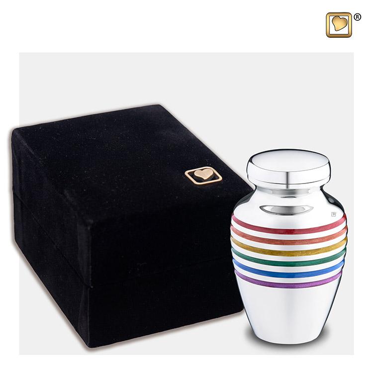 Messing LoveUrns Mini Rainbow Urn Pride (0.05 liter)