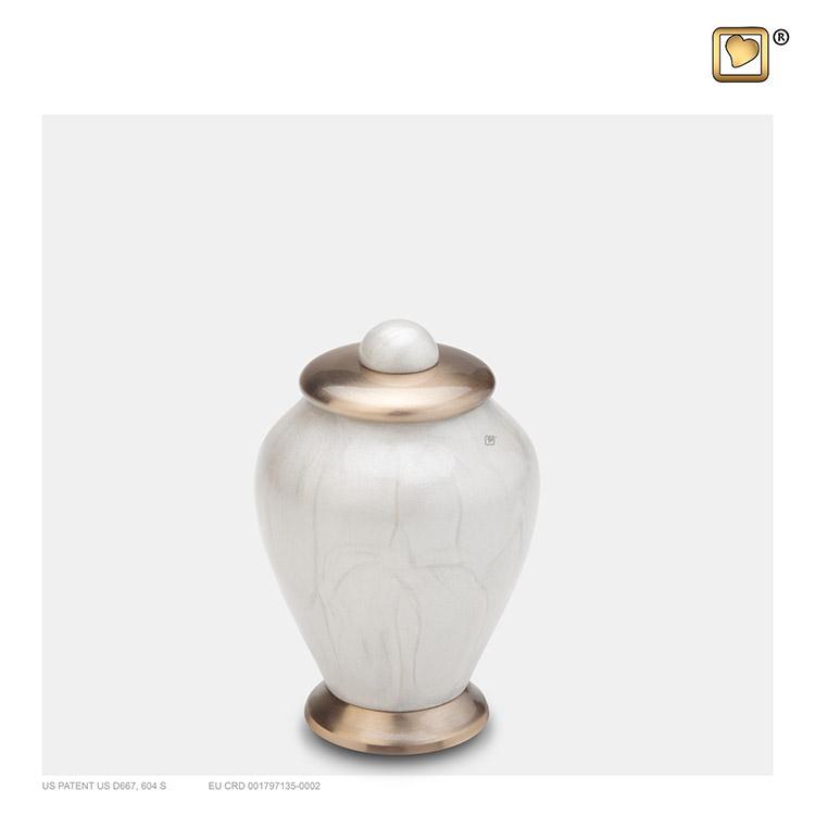 Messing Simplicity Urnen Voordeelset Witmarmer (5.7 l.)