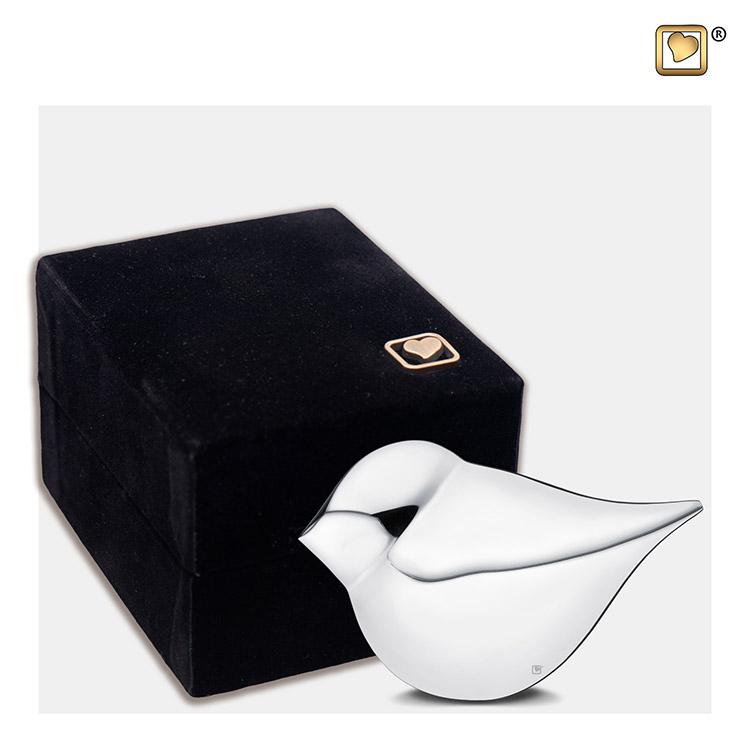 Zilveren Mini Soulbird Urntje - Vrouw (0.04 liter)