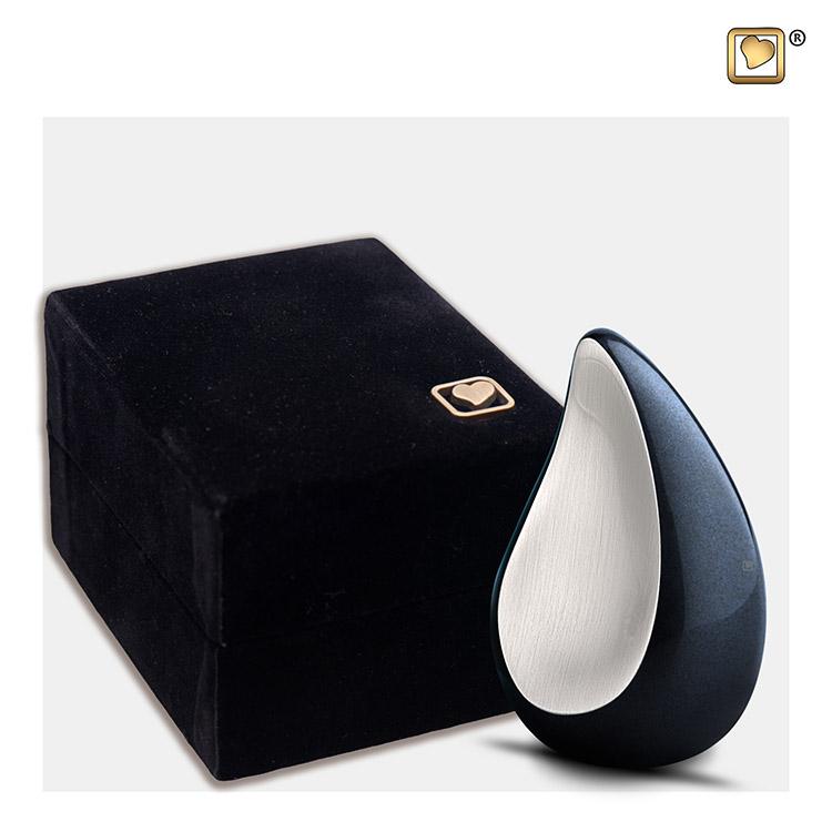 Teardrop Urntje Midnight Black - Matzilver (0.04 liter)