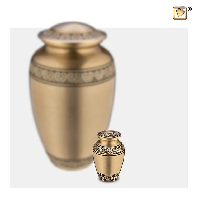 LoveUrns Mini Urn Klassiek Matgoud (0.05 liter)