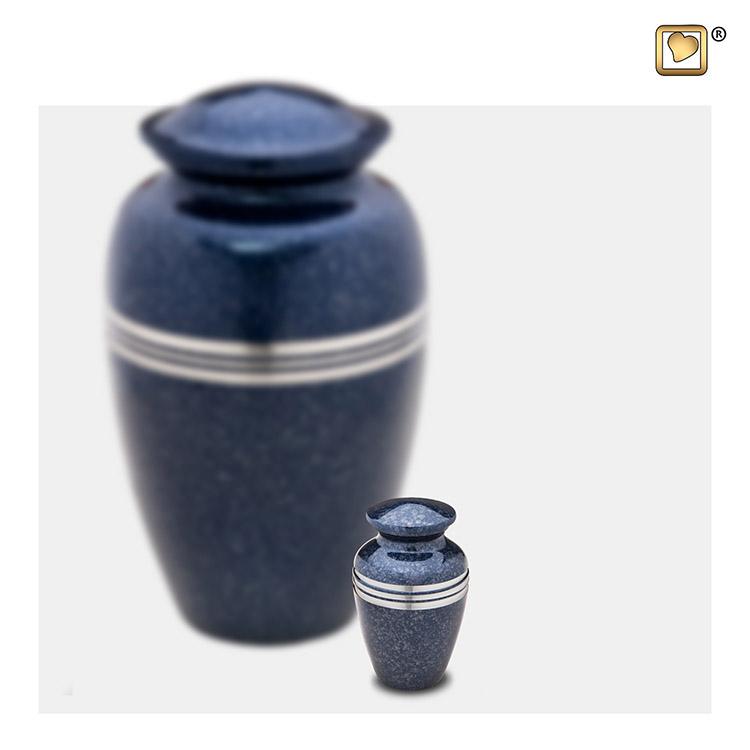 LoveUrns Miniurn Klassiek Gespikkeld Indigo (0.05 liter)