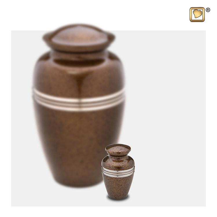 Mini Dierenurn Klassiek Gespikkeld Auburn (0.05 liter)