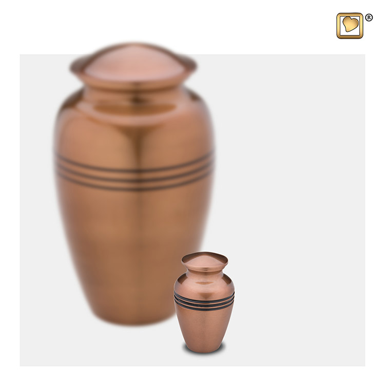 LoveUrns Radiance Miniurn Classic Copper (0.05 liter)
