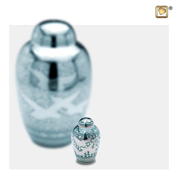 LoveUrns Mini Urn Vogels Groen (0.05 liter)