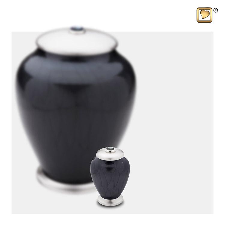 LoveUrns Mini Simplicity Urn Zwartmarmer (0.075 liter)