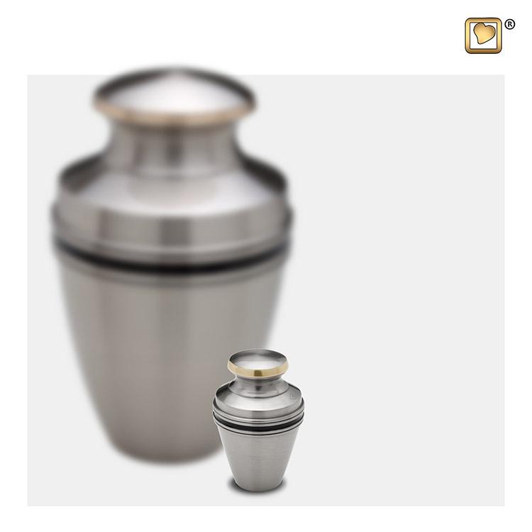 LoveUrns Mini Urn Matzilver Sierbanden (0.06 liter)