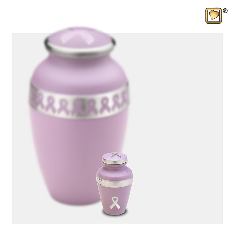 LoveUrns Miniurn Pink Ribbon (0.05 liter)