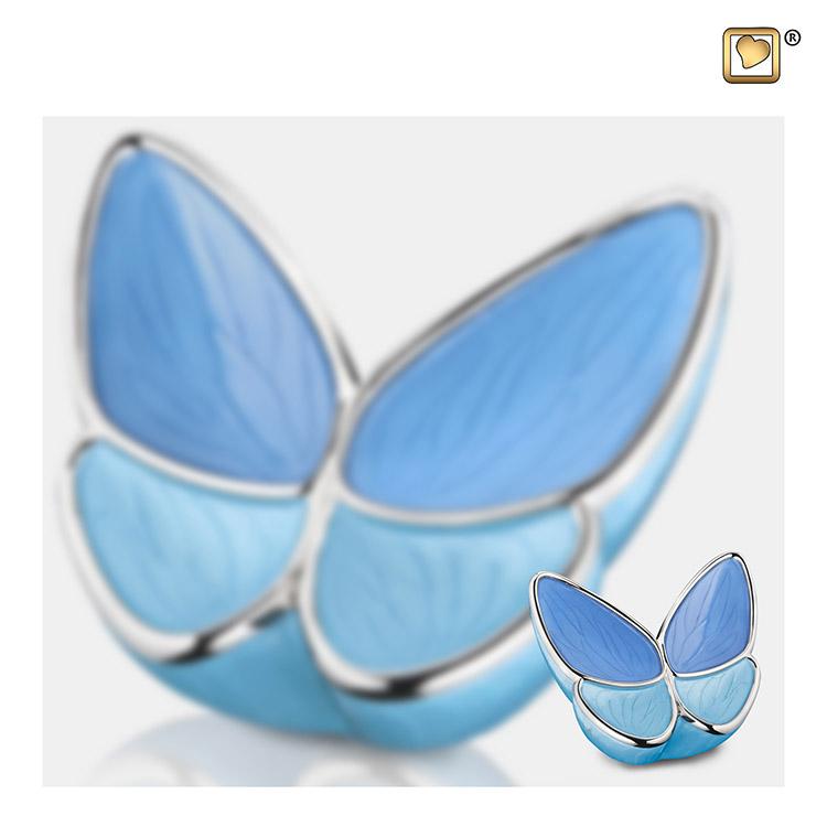 Butterfly Urnen Voordeelset Blauw (3.2 en 0.05 liter)