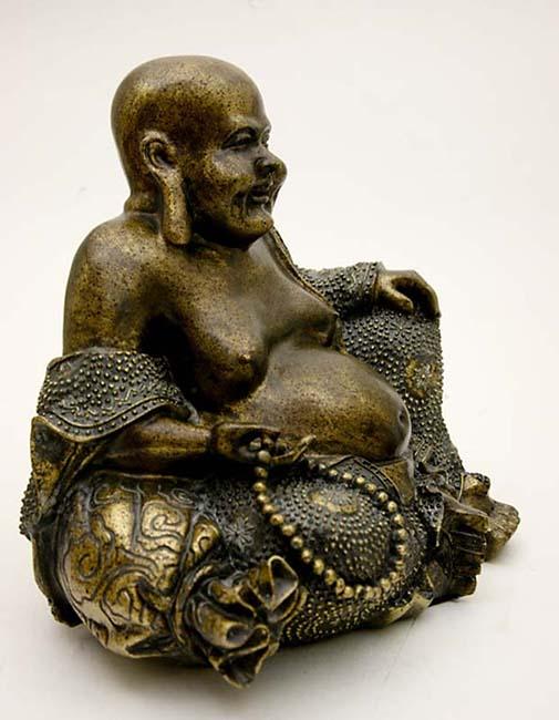 Dikbuik Boeddha Dierenurn Oudbrons Large (3.8 liter)