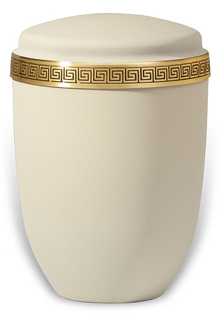 Design Urn met Klassiek Messing Sierband (4 liter)