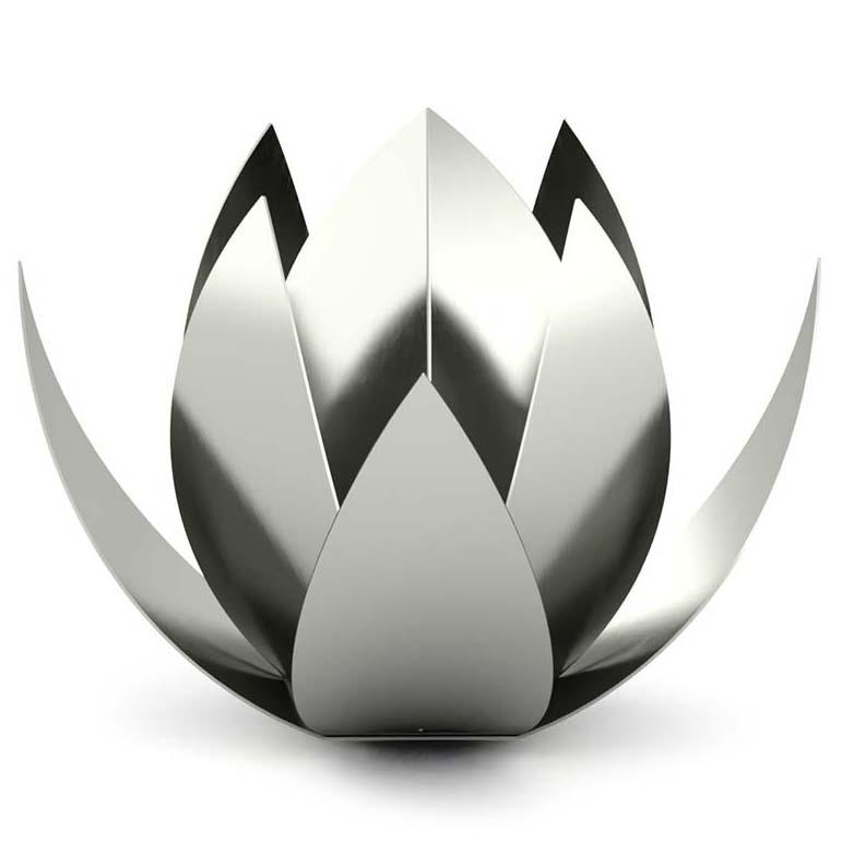 RVS Lotus Urn XL (7 liter, geschikt als duo urn)