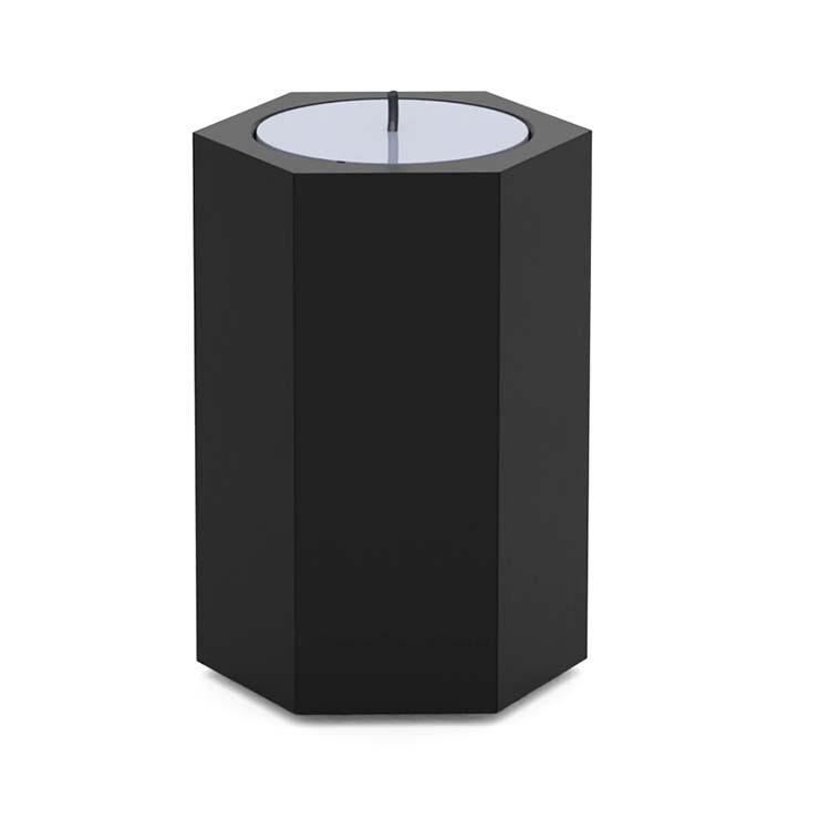 RVS Urn met Waxinelichtje Zeskant (0.05 liter)