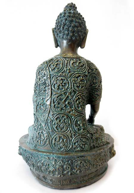 Kleine Bronskleurige Meditatie Buddha Urn (1 liter)