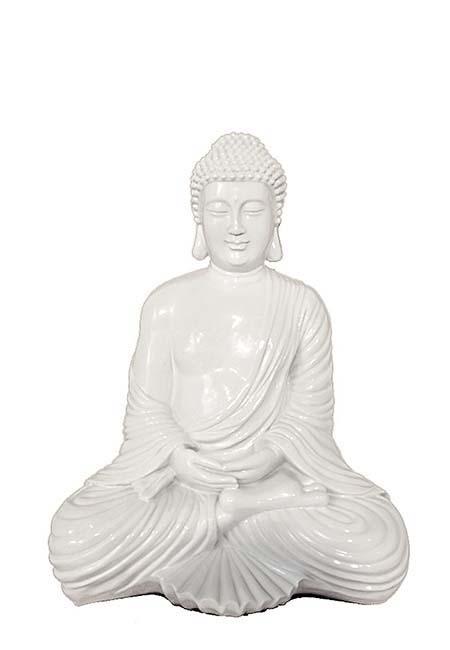 Witte Amithaba Meditatie Buddha Urn (2 liter)