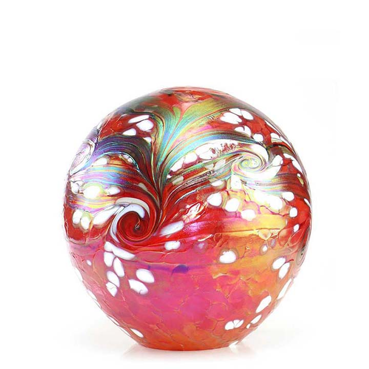 Middelgrote Kristalglazen Bol-Urn Elan Red (1.5 liter)