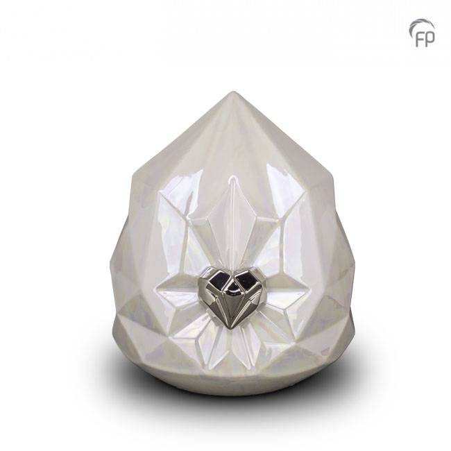 Medium Keramische Diamant Urn (2.3 liter)