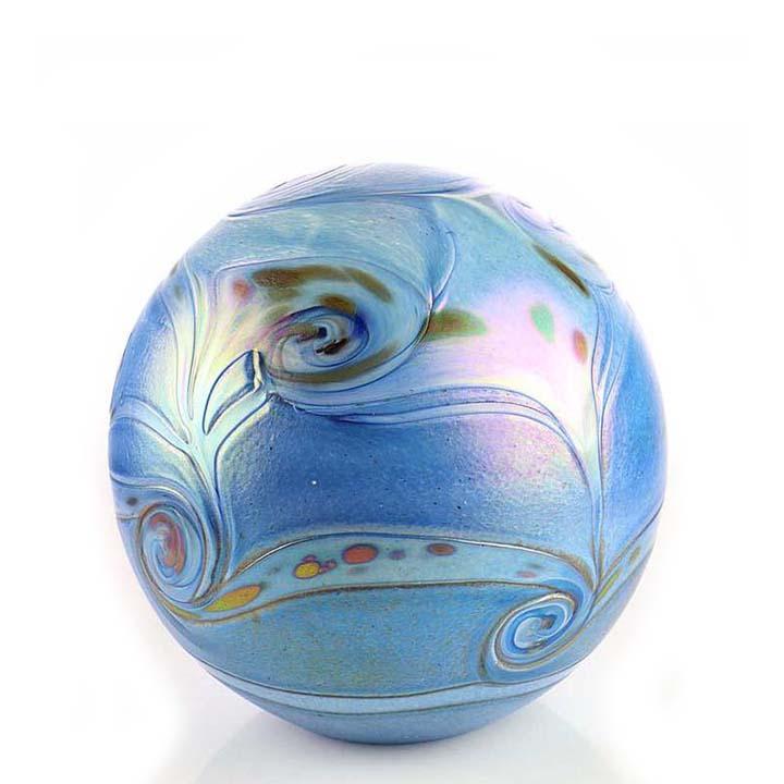 Middelgrote Kristalglazen Bol-Urn Elan Blue (1.5 liter)