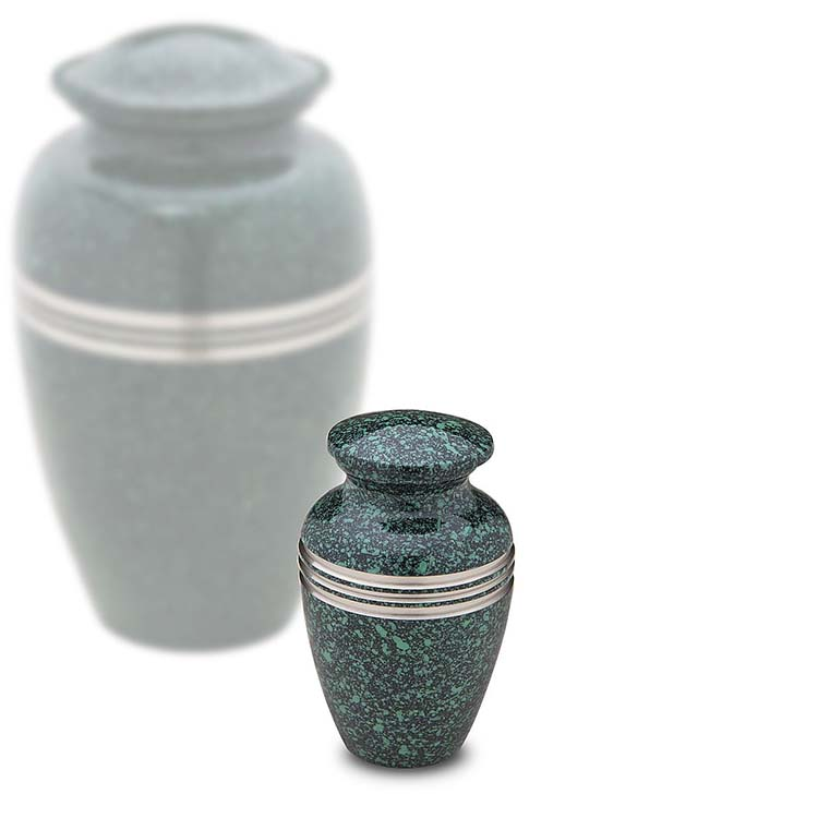 LoveUrns Miniurn Klassiek Gespikkeld Emerald (0.05 liter)