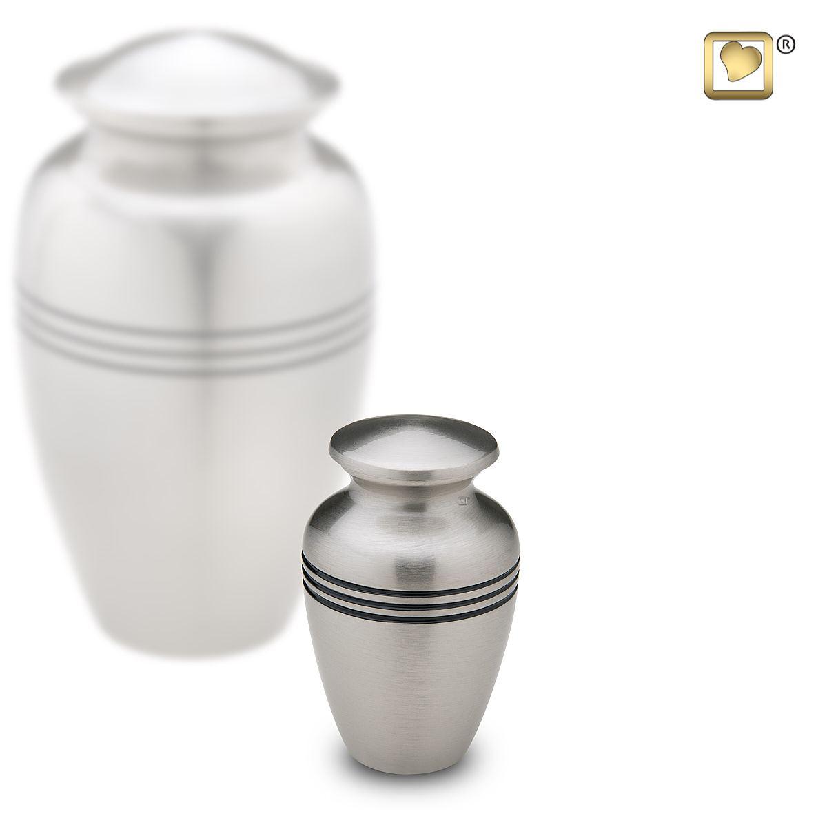 Mini Dierenurn Classic Silber (0.05 liter)