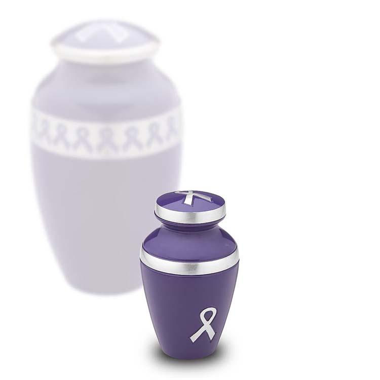 LoveUrns Miniurn Purple Ribbon (0.05 liter)