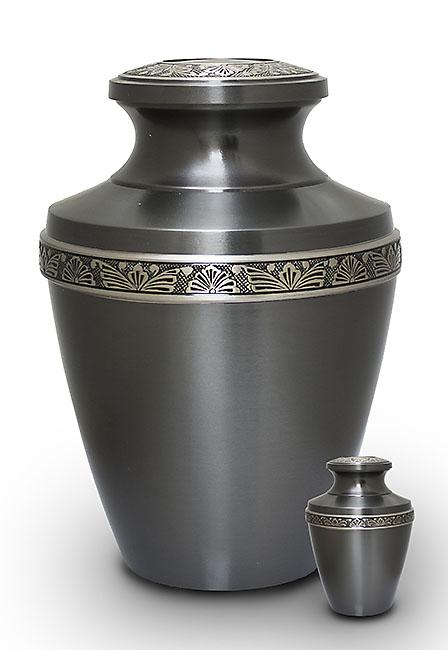 Grote Messing Urn Rustiek Grijs (3.2 liter)