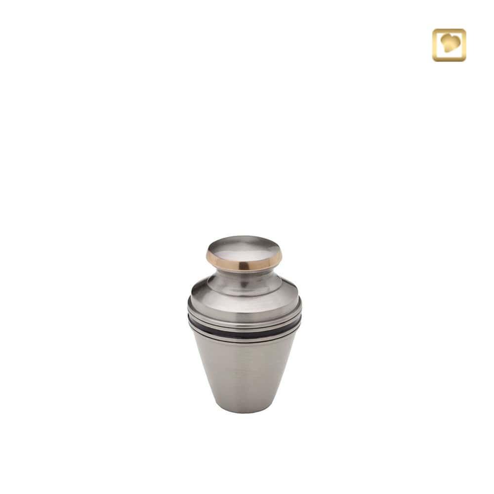 LoveUrns Mini Dierenurn Matzilver Sierbanden (0.06 liter)