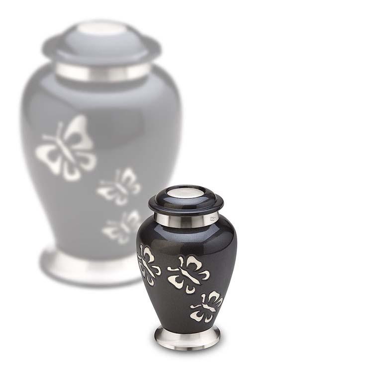 LoveUrns Mini Urn Midnight, Klassieke Vlinders (0.055 liter)