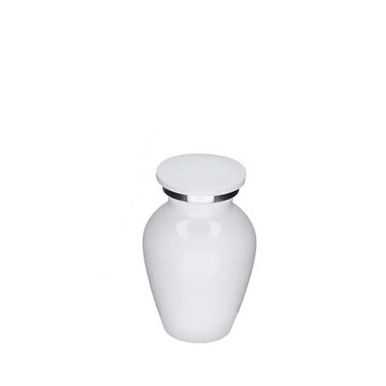 Elegance Mini Dierenurn Glimmend Wit (0.1 liter)