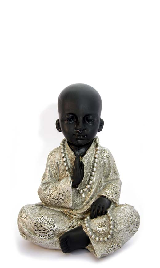 Kleine Buddha Urn Zegenende Shaolin Monnik (0.8 liter)